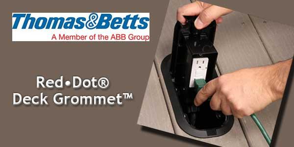 Red Dot Deck Grommet Pro Floor Box Eliminates Hazard Of