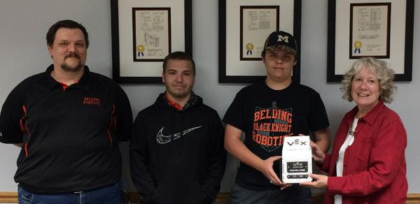 Robroy Enclosure Receives Belding Area School District's FIRST Robotics Team 2017-2018 Outstanding Sponsor Award