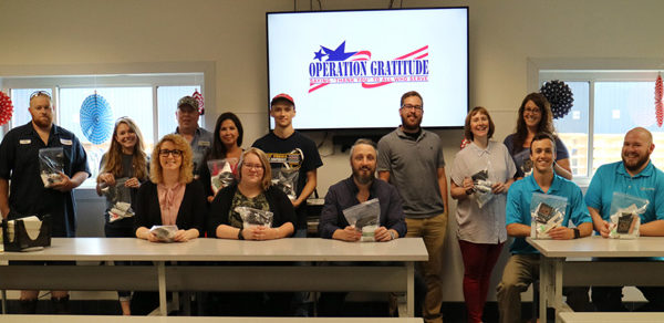 Service Wire Employees Help to Assemble Care Kits for Deployed Soldiers for Operation Gratitude
