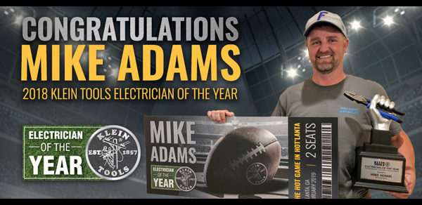 Klein Tools Announces 2018 Electrician of the Year Winner