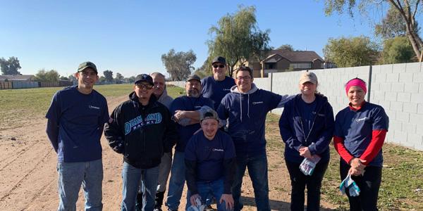 Volunteers Clean Up Graffiti in Phoenix Neighborhood