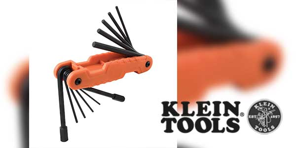 Klein Tools' Pro Folding 11-Piece Hex Key Set Features a 1/2-Inch Key Size