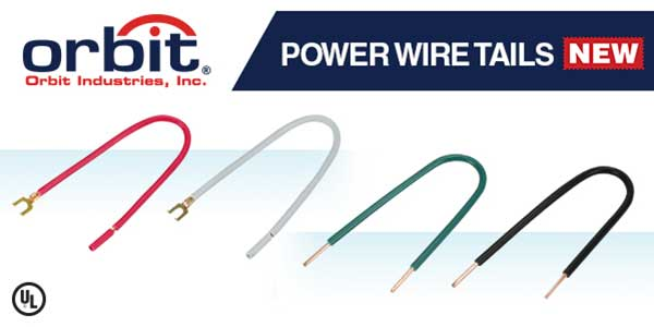 Orbit Industries Adds Power Wire Tails to its Electrical Junction Box Line
