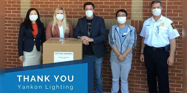 Energetic Lighting Donates 10K Masks to MEDC - McKinney Economic Development Corporation
