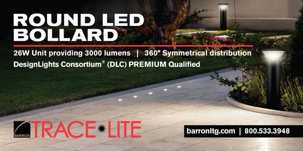 New Round LED Bollard from Barron Lighting Group