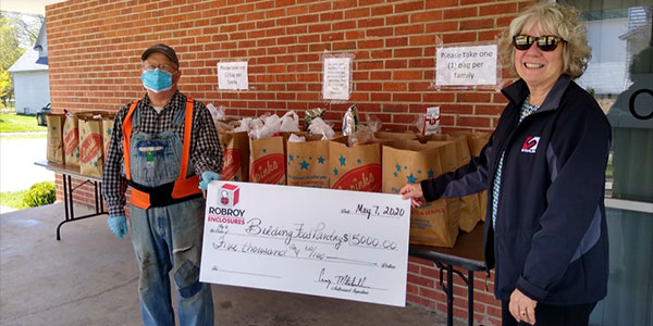 Enclosures Supports Belding Food Pantry to Assist Disadvantaged Families in West Michigan