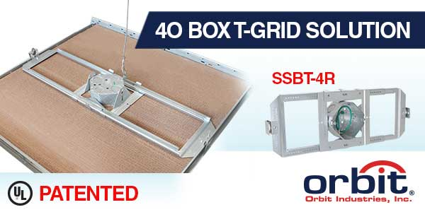 Fast and Easy Way to Install 4O Compatible Devices in Drop Grid Ceilings