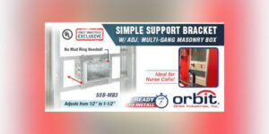 Orbit Revolutionary Mounting System Roughs-In 3 to 6-Gang Boxes Anywhere Between Studs