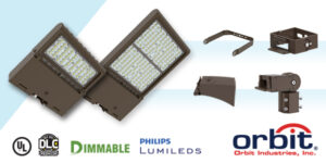 Orbit Launches New LED Flood and Area Lights with Field-Adjustable Wattages; Now DLC Premium to 5.1 Standards