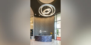 Large Scale Architectural Lighting Commands Attention in Luxury Apartment Complex